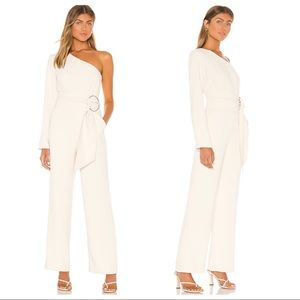 NWT L'Academie The Emmanuelle Jumpsuit in Ivory